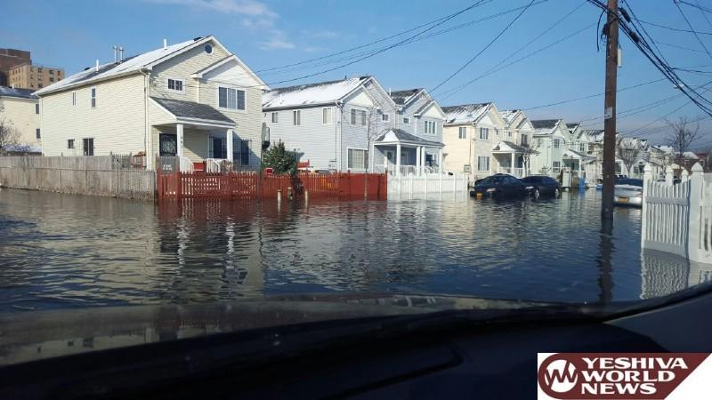 PHOTOS: More Coastal Flooding Hits NYC - Parts Of Far Rockaway Under Water Tuesday Morning