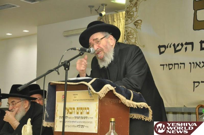 Rav Landau Addresses Bnei Brak's Fast Food Eateries and a Breakdown in Modesty Standards