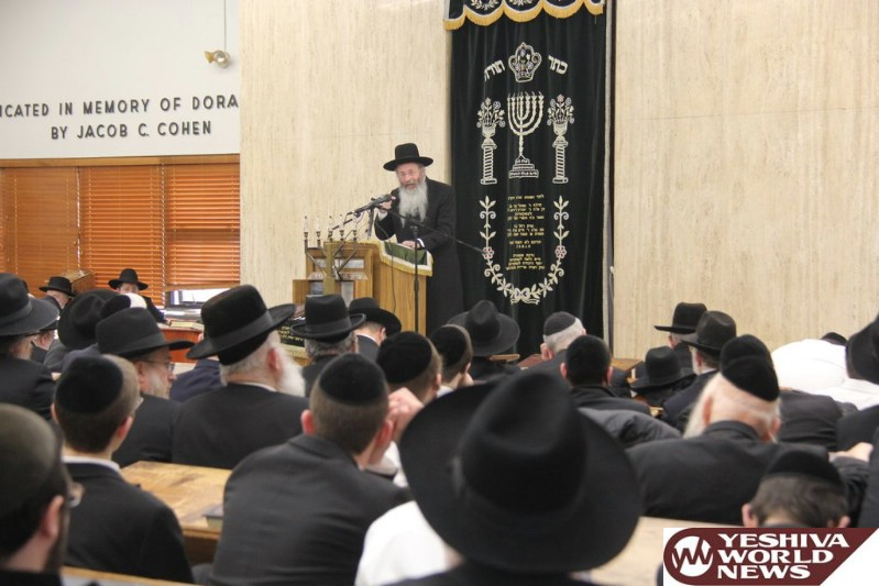 Photo Essay: Hespeidim For Hagaon HaRav Chaim Yisroel Belsky ZATZAL At Yeshiva Torah Vodaas On Sunday (Photos By Shimon Gifter)
