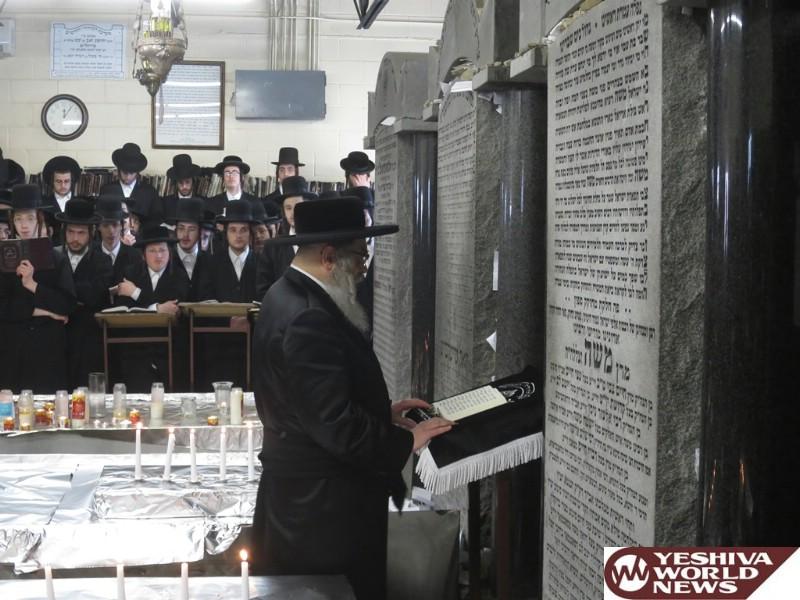 Photo Essay: Satmar Rebbe Of Kiryas Yoel davening at the Ohel Admorei Satmar Ahead Of His Granddaughters Wedding