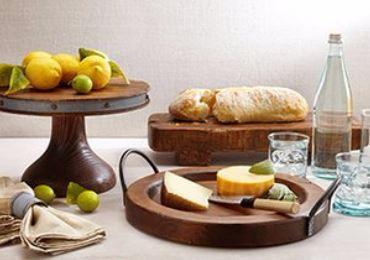 Europe2You Vintage Wooden Serve Ware