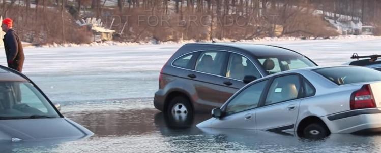 VIDEO: 20 Cars Fall Through Ice At Lake Geneva's Winterfest