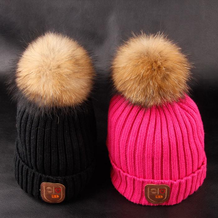 PomPom Wool Hat Shaatnez Warning  d6607502f84
