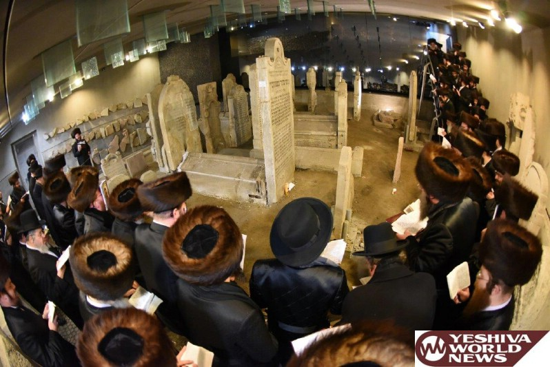Photo Essay: Viener Rov Spends Shabbos With Chassidim In Pressburg, Near Kever Of Chasam Sofer (Photos By JDN)
