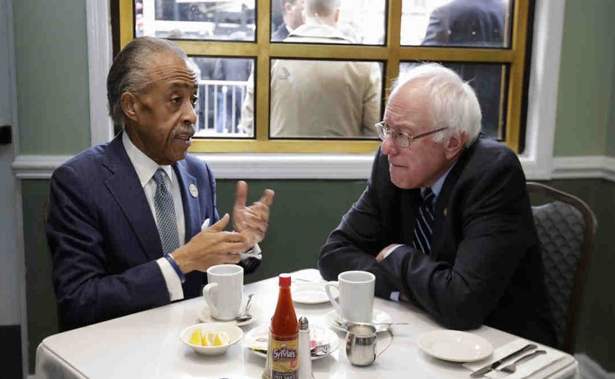 Sharpton, Sanders Meet at a Harlem Landmark