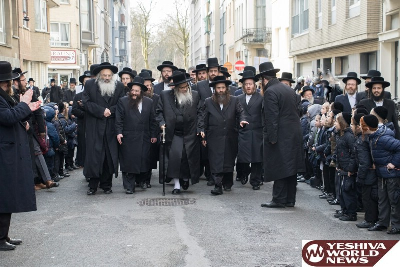 Photo Essay: Satmar Rebbe Of Williamsburg On His Current Visit To Antwerp (Photos By JDN)