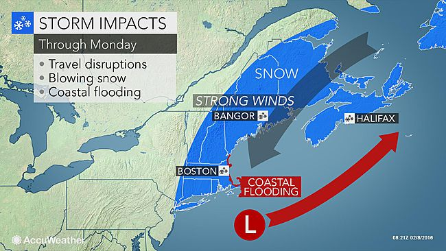 New England to Get Brunt of Snowstorm Heading East