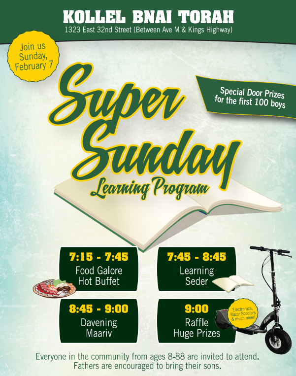 TONIGHT - Super Sunday 'LEARNING PROGRAM' In Flatbush