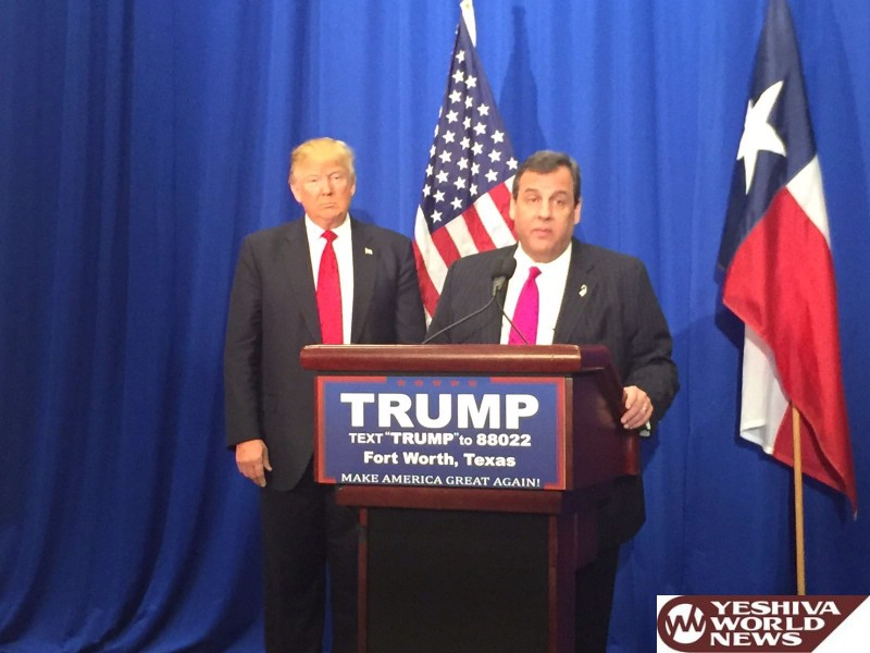 Donald Trump to Hold Fundraiser for Chris Christie