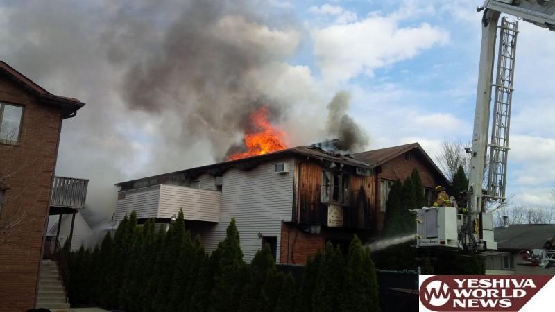 VIDEO AND PHOTOS: Massive Fire Destroys Spinka Bais Medrash In Kiryas Joel [UPDATED 3:15PM]