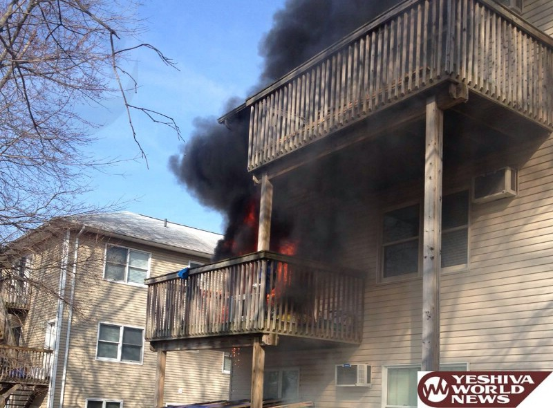 BREAKING PHOTO: Structure Fire On Walter Drive In Monsey; 1 Person With Burns