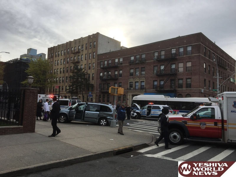 PHOTOS: NYPD Responding To Emergency Involved In Crash On Bay Pkwy And 80 Street; No Serious Injuries Reported