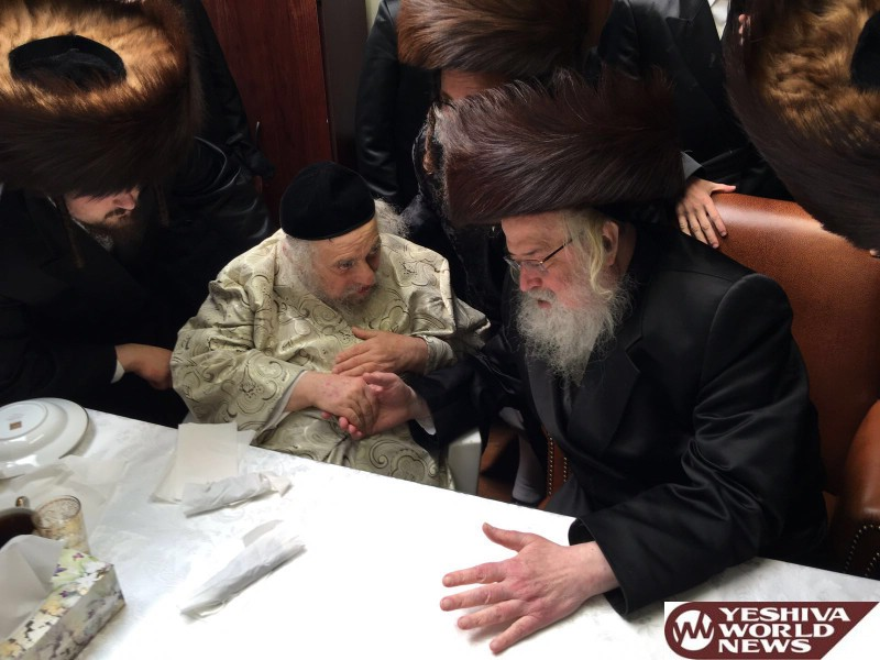 Photo Essay: Munkatcher Rebbe Visiting Hagaon HaRav Chaskel Roth Today As He Recovers From Heart Attack (Photos by JDN)