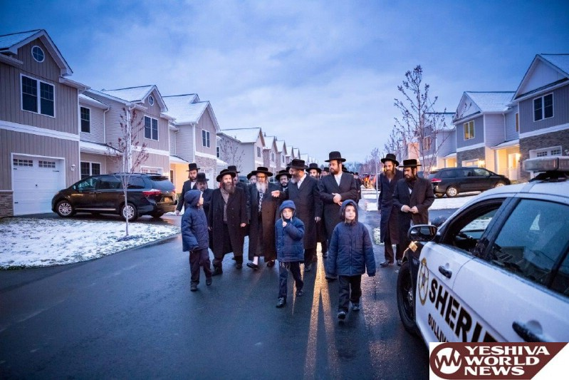 Photo Essay: The Satmar Rebbe Of Williamsburg Visiting The New Community In Bloomingburg, NY (Photos By JDN)
