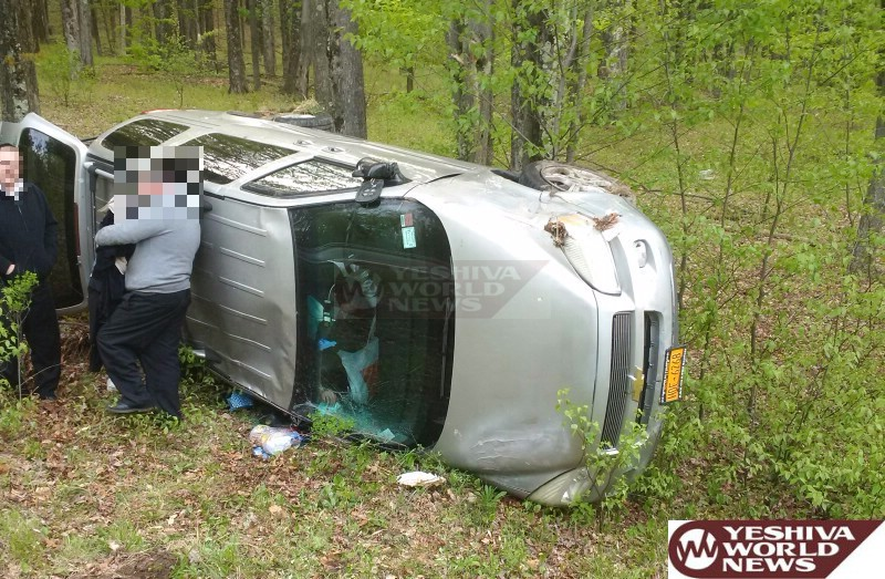 PHOTO: Vehicle Overturns On Glenwild Road In Sullivan County, Sunday Afternoon; No Serious Injuries Reported