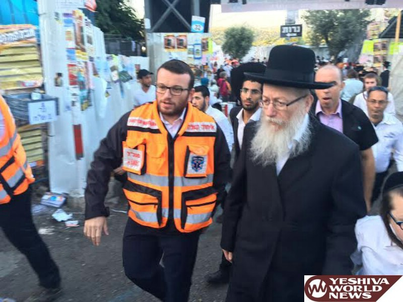 Photo Essay: Health Minister Litzman Visits The Tziyun Of The Rashbi Erev Lag Baomer