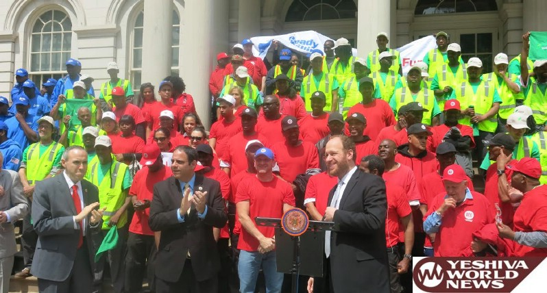 Greenfield Rallies Councilmembers, Community Groups in Support of NYC Cleanup Initiative