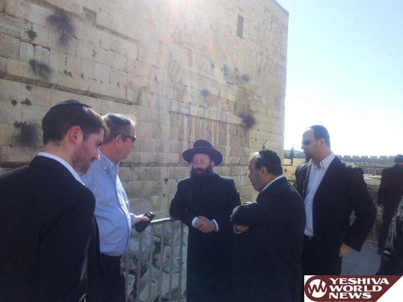 Kosel Egalitarian Prayer Area Back In The News As Chareidi Officials Visit To Get A First Hand Look At Today's Realities
