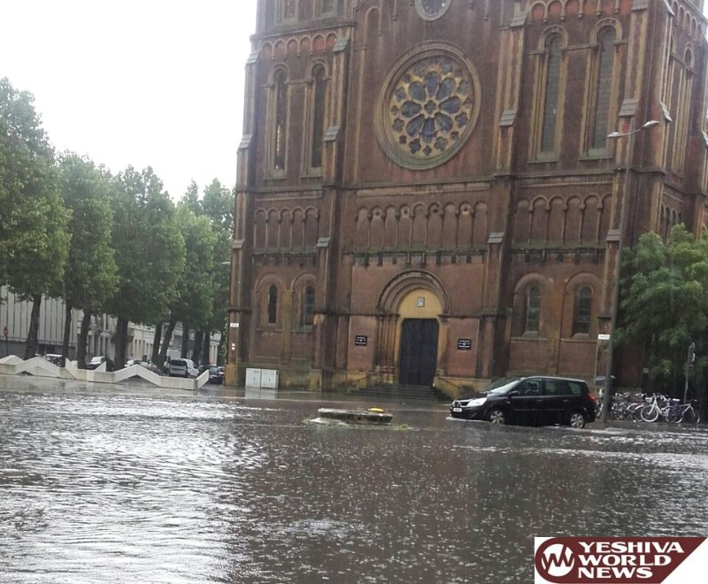 VIDEO AND PHOTOS: Serious Flooding In Antwerp After Heavy Rain Storms