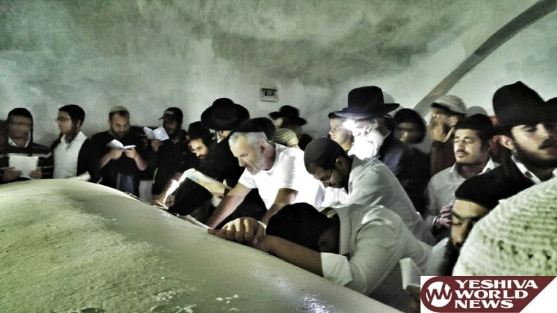 PHOTOS: Hundreds Visit The Kever Yehoshua Bin Nun