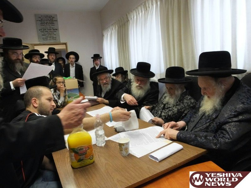 Photo Gallery: Pesach 5776 - Beis Din Eida Hachareidis Selling The Chametz (Photos by JDN)
