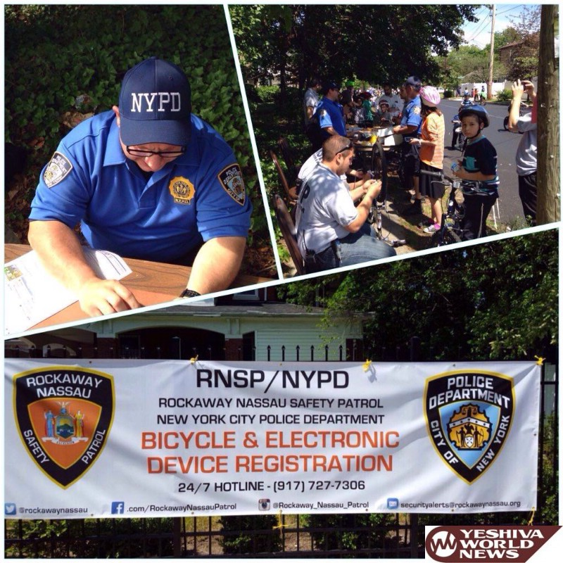 PHOTOS: RNSP (Rockaway Shomrim) Holds First of Two Bike Etching Events
