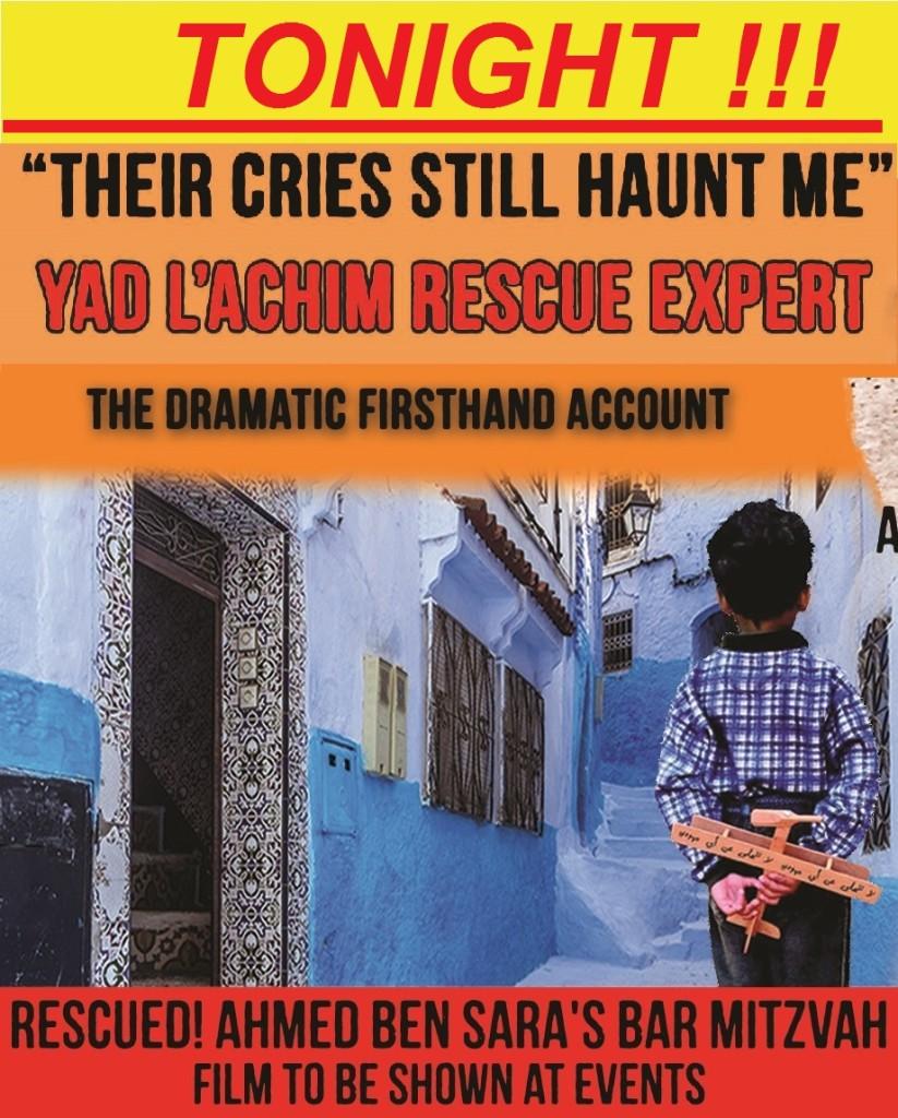 Today in Boro Park - Arab Village Rescuer & Cult Survivor Event with Yad L'Achim