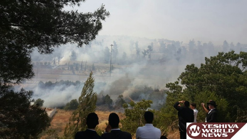 VIDEOS AND PHOTOS: Jerusalem: Fire Breaks Out In Romeima - Firefighters Gain Control; Residents May Return Home [UPDATED]
