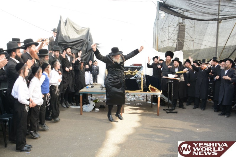 Photo Essay: The Modzitzer Rebbe In Meron On Lag BaOmer 5776 - 2016 (Photos by JDN)