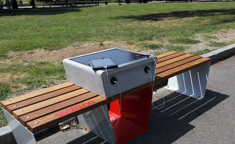 NYC Is Testing Park Benches With Built-In Charging Stations