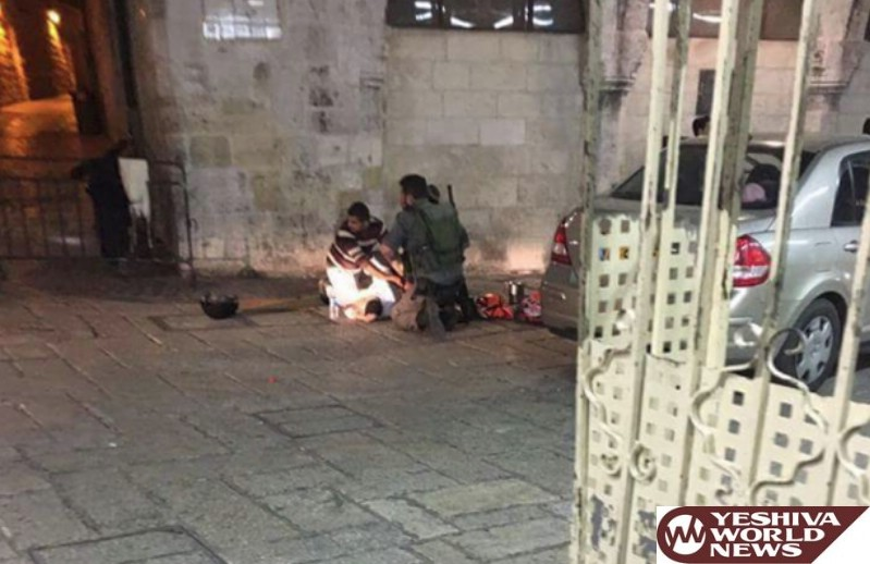 TERROR: Charedi Man Stabbed At Lions Gate In Jerusalem's Old City