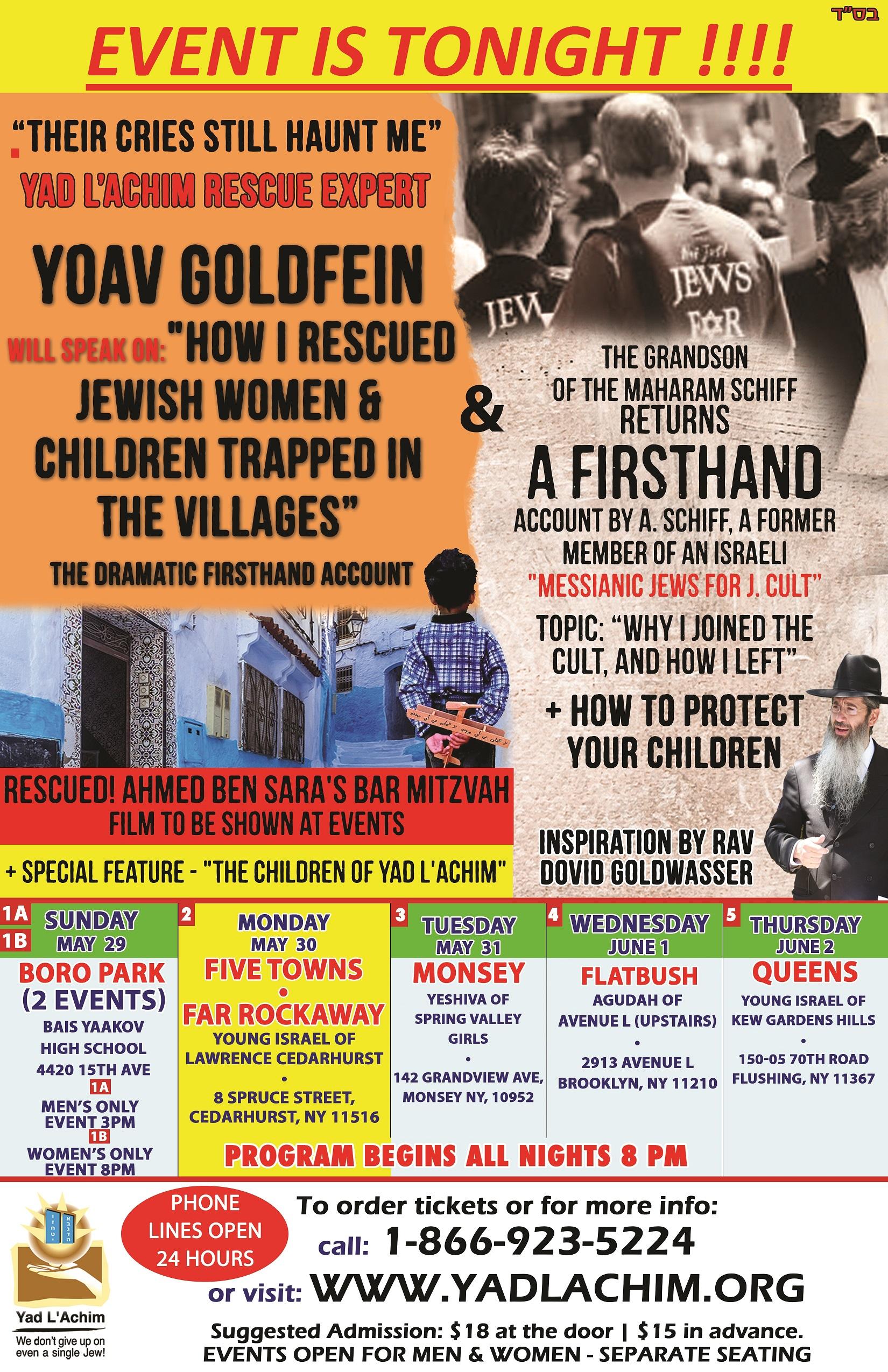 Tonight In 5 Towns Tom In Monsey Arab Village Rescuer Cult Survivor Flatbush Queens