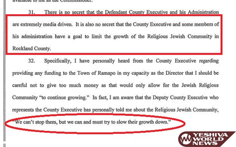 BREAKING: Leaked Court Docs Reveal Rockland County Executive Ed Day Telling Employees To 'Limit Growth Of Religious Jews'