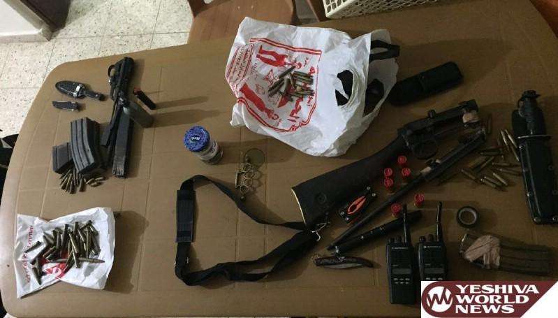 PHOTOS: Israeli Security Forces Make Arrests And Uncover Weapons