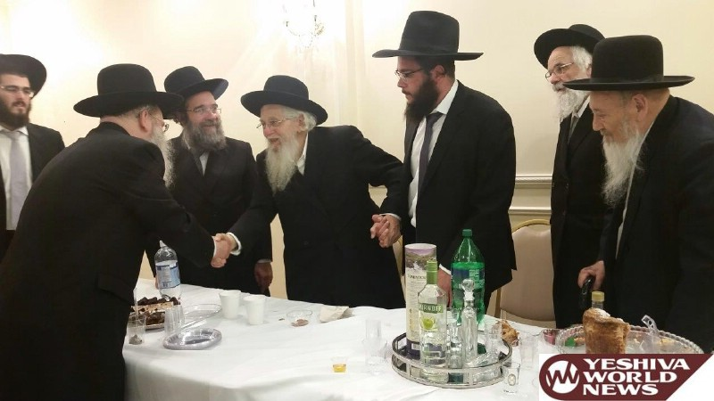 Photo Essay: Vort For Grandson Of Hagaon HaRav Aharon Shechter, Rosh Yeshivas Chaim Berlin (Photos by JDN)