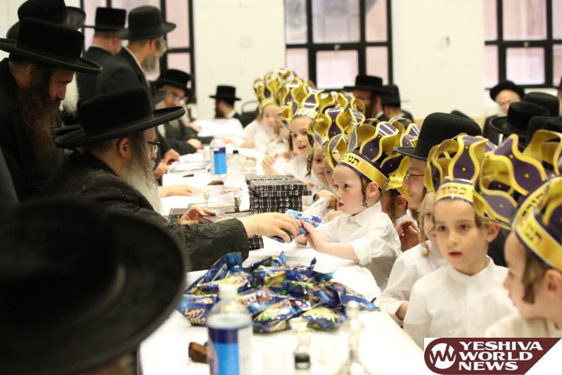 Photo Essay: Chumash Seudah For Children Of The Satmar Cheder In Boro Park (Photos by JDN)
