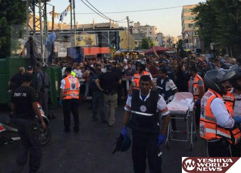 TERROR IN NETANYA: Palestinian Terrorist Stabs Two Near Netanya City Market; One Victim Critical; Terrorist Shot Dead