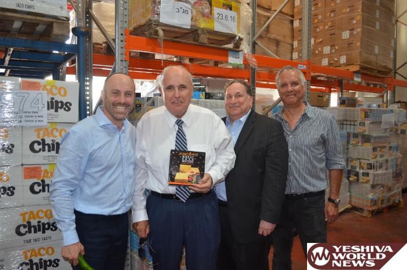 Former NYC Mayor Giuliani Tours Leket Israel