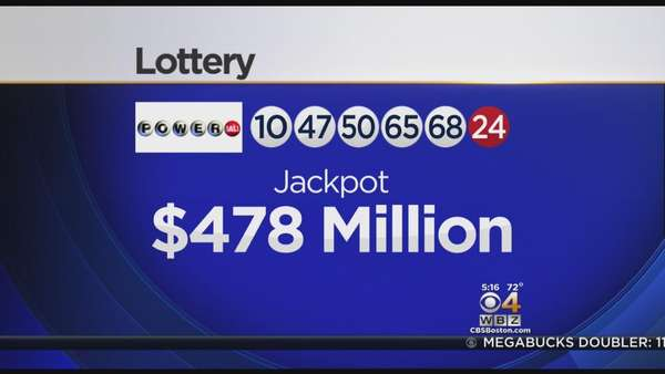 Powerball's Estimated Jackpot Hits $478 Million