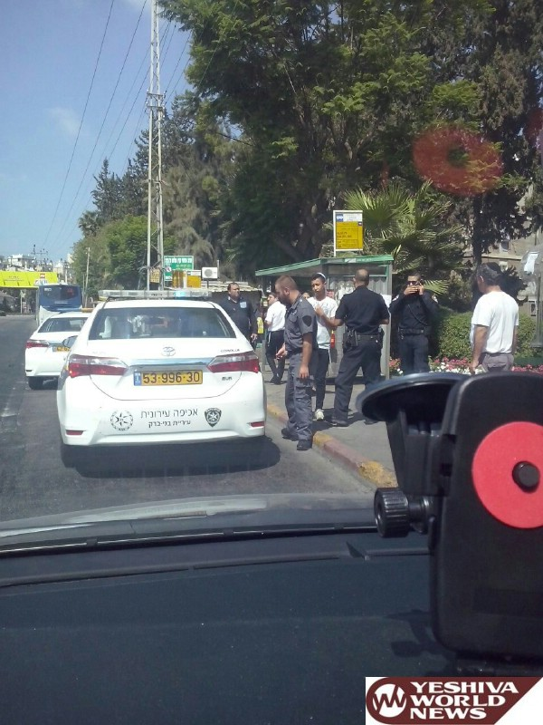 Chasdei Hashem: Arab Male With A Knife Apprehended In Bnei Brak