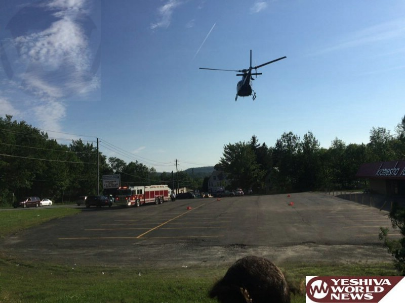 Catskills: Victim Airlifted After Struck By Vehicle On Route 42 In Kaimisha On Friday Afternoon [PHOTOS]