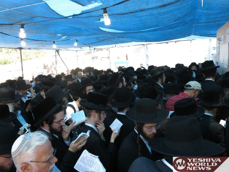 Photo Essay: Yidden Davening At The Kever Of The Ohr Hachaim Hakadosh On The Yartzheit Last Week (Photos by JDN)