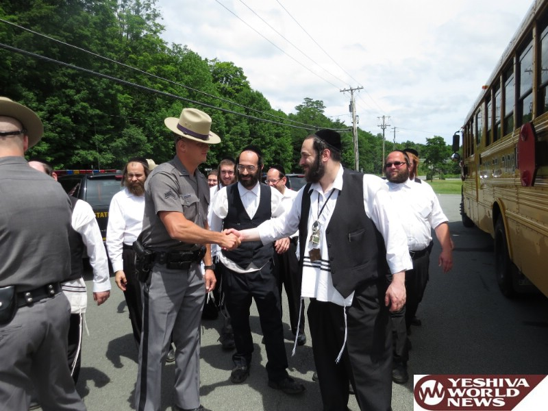 Photo Essay: Heads Of Camp Adas Yerayim Vien Meet With State Troopers In Liberty To Thank Them For Their Service (Photos by JDN)