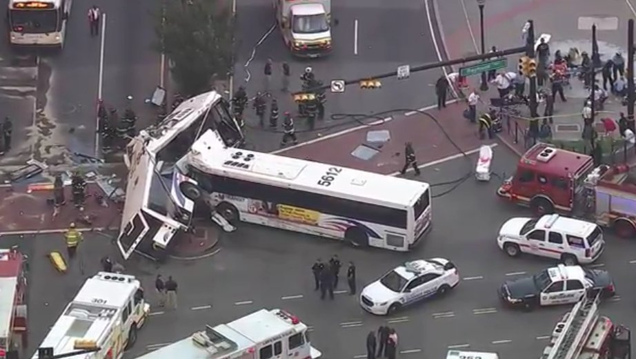 Driver Killed, 19 Injured When 2 New Jersey Buses Crash