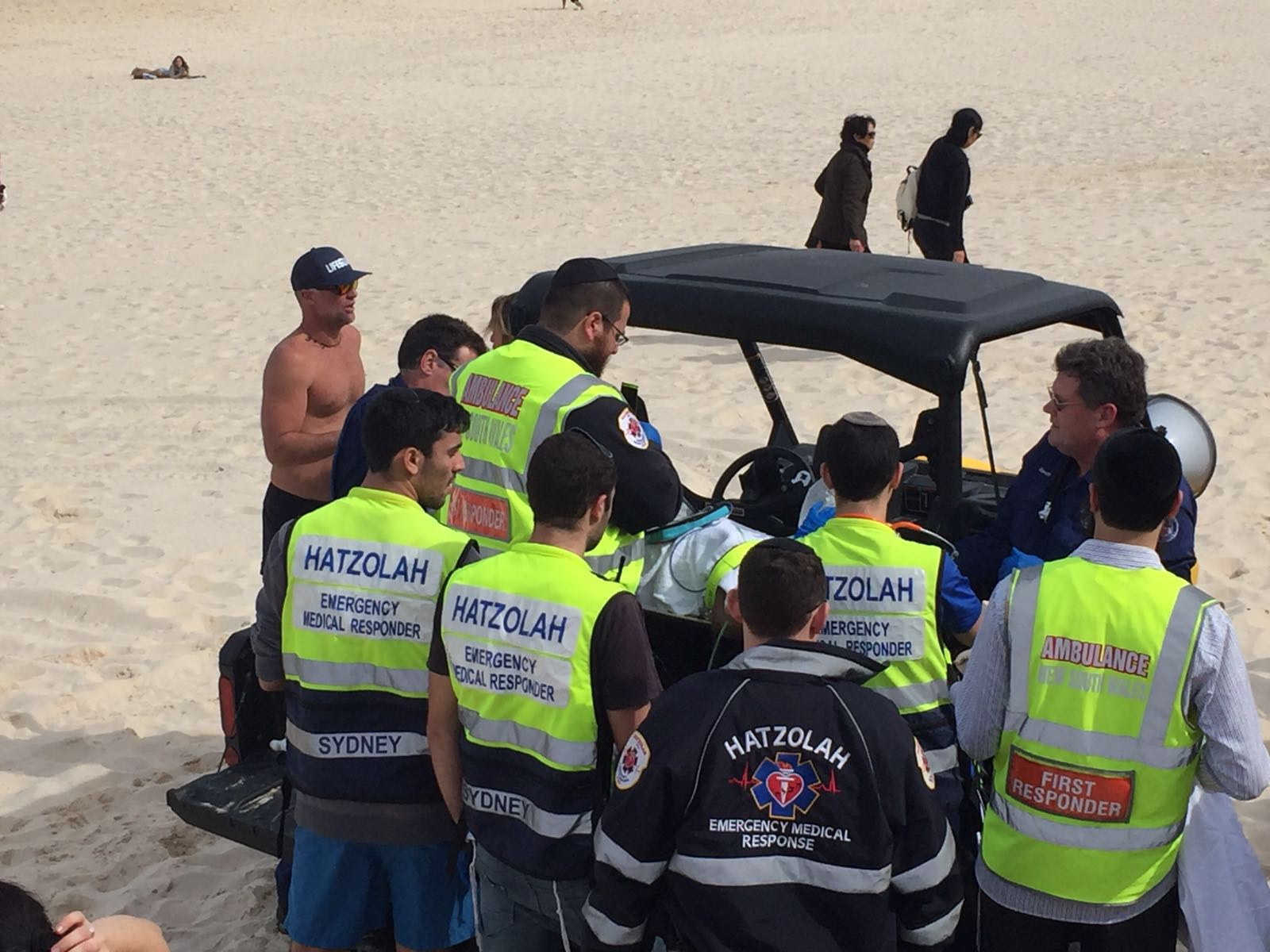 Big Kiddush Hashem As Sydney Hatzolah Helps Save Lives Of Multiple Drowning Victims On Beach