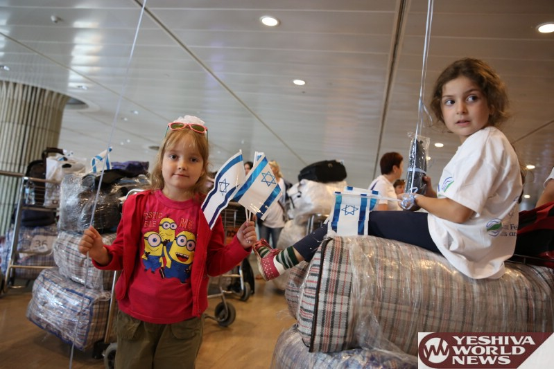 211 Olim From Ukraine Arrived In Israel On Another IFCJ Flight