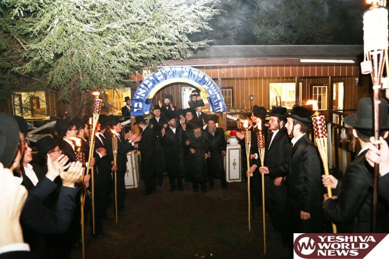 Photo Essay: Catskills - Matersdorf Rov Visiting The Bochurim In Camp Yeshiva (Photos by JDN)