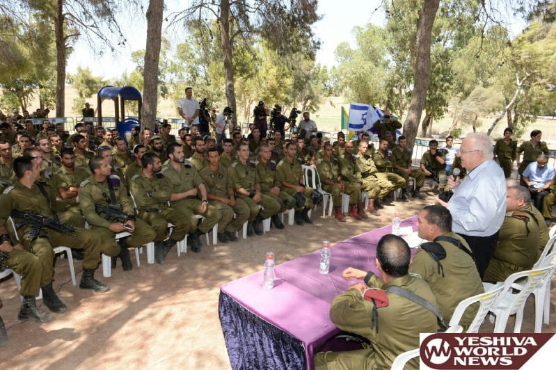PHOTOS: President Reuven Rivlin Visits Gaza Border Communities