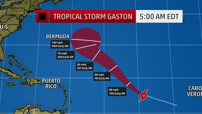 Tropical Storm 'Gaston' Forecast to Become a Hurricane in Atlantic