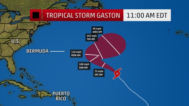 Tropical Storm Gaston Is Moving Northwest in the Atlantic